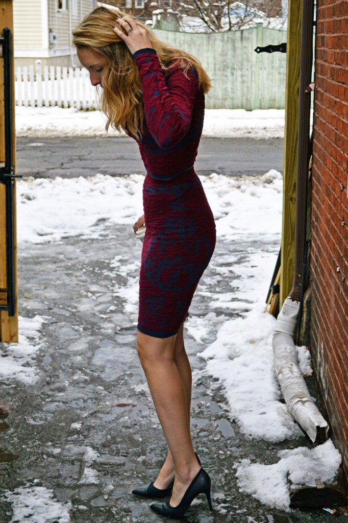 matching sweater and skirt set