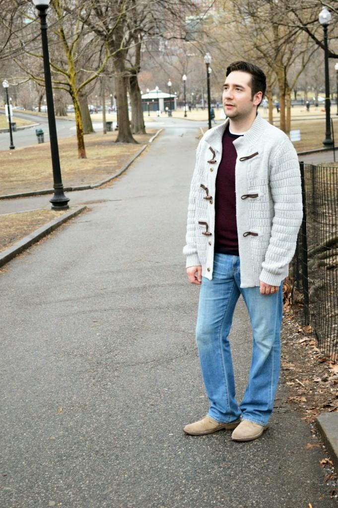 Men's fashion casual winter layers