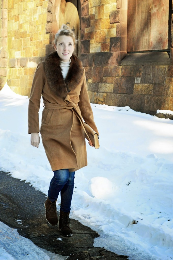 casual winter layers outfit