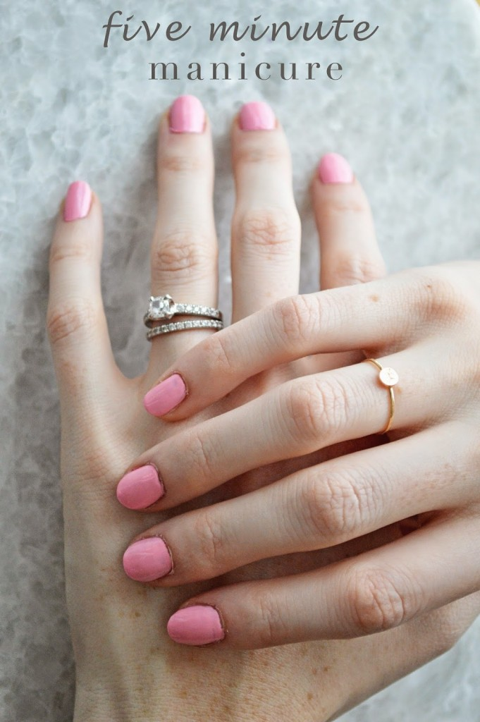 easy at-home five minute manicure