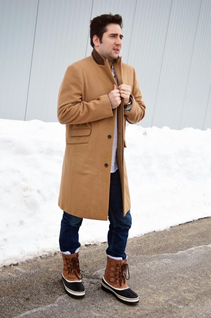 men's camel overcoat