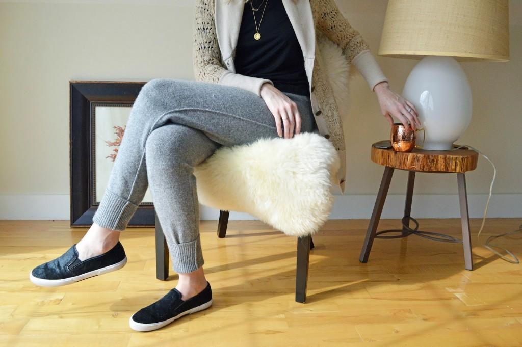 women's cashmere blend sweatpants