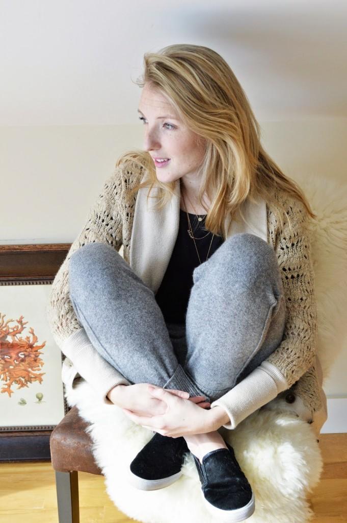 women's winter loungewear outfit