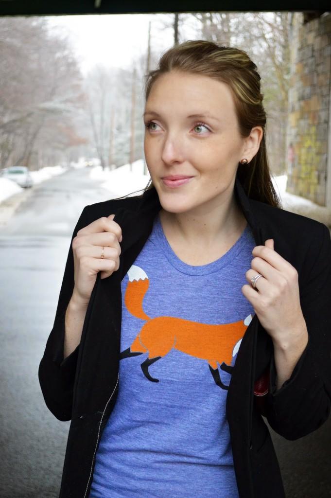 Coloradical women's fox t-shirt