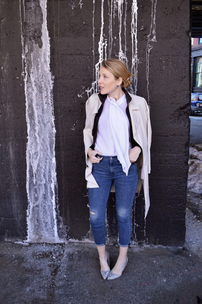 women's layered neutral look with double jackets