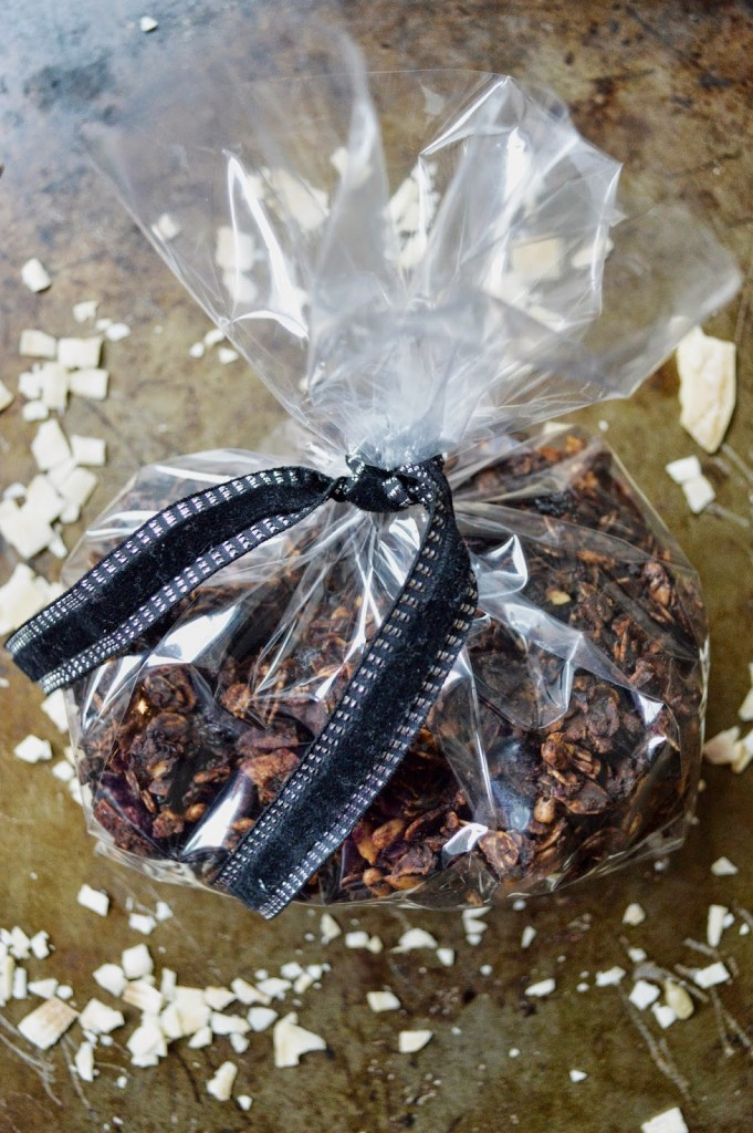 chocolate granola party favor bag