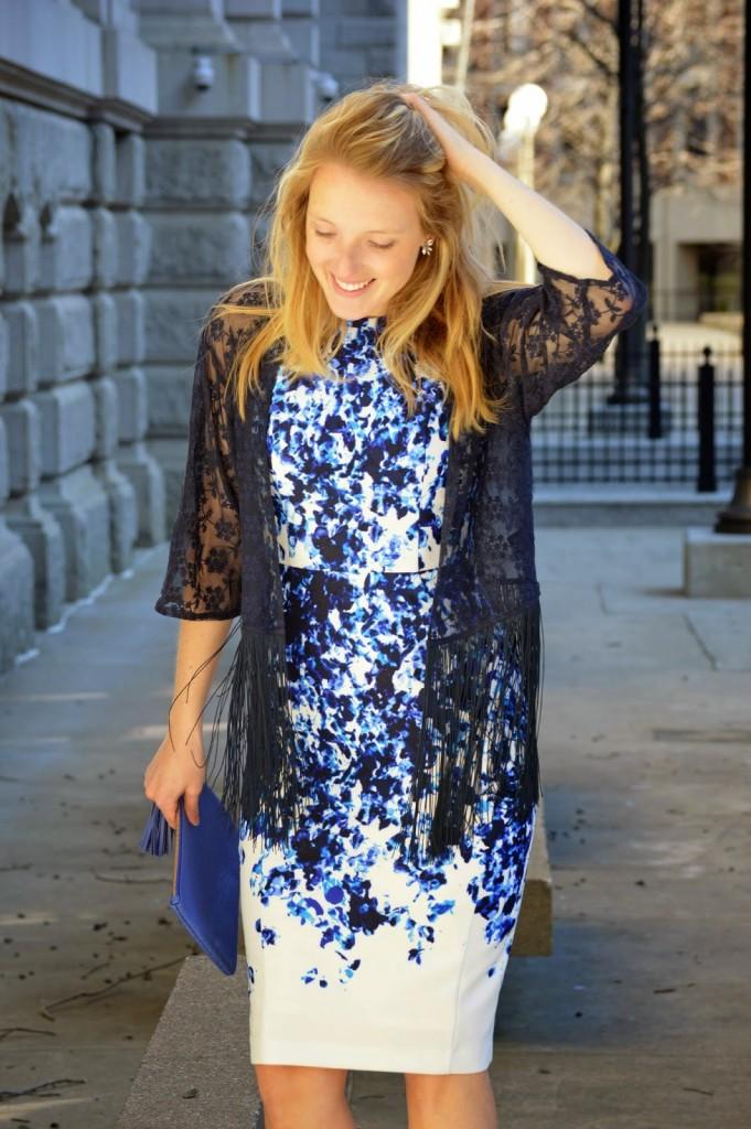 Vince Camuto floral print sheath dress