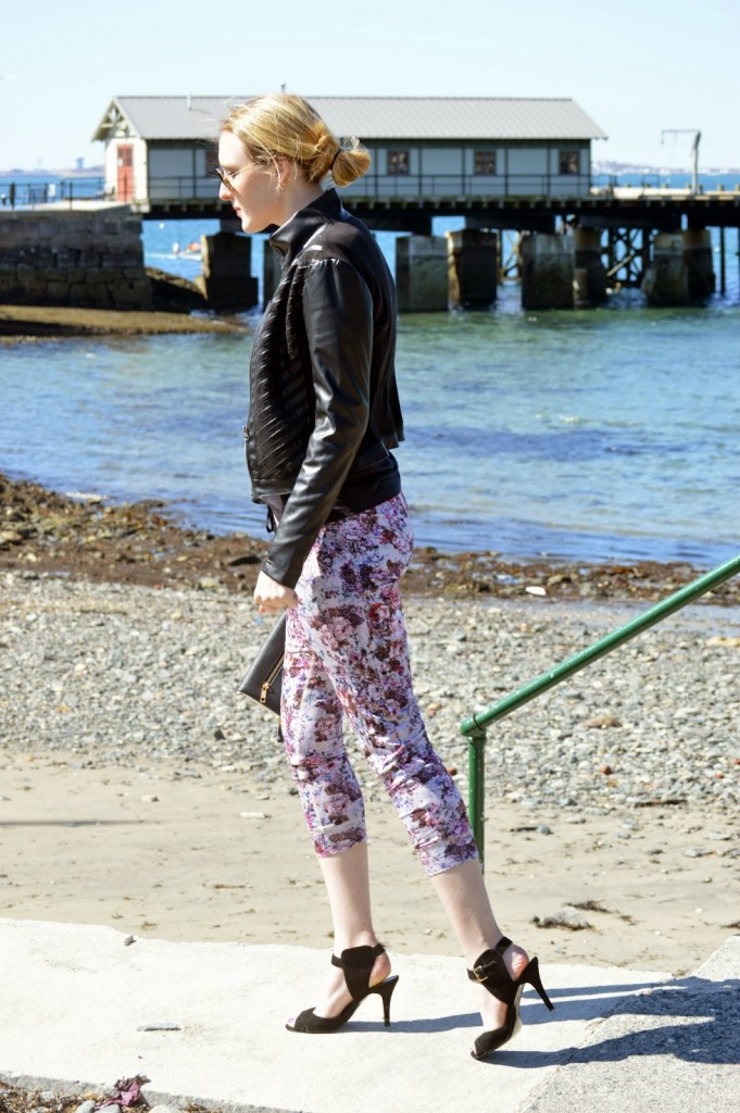 spring floral athleisure casual trend