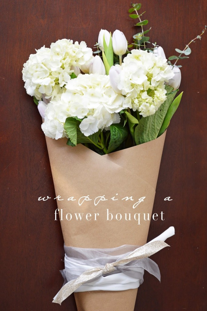 how to wrap a flower bouquet - One Brass Fox
