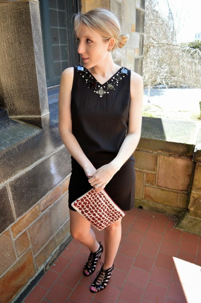 spring embellished little black dress (lbd)