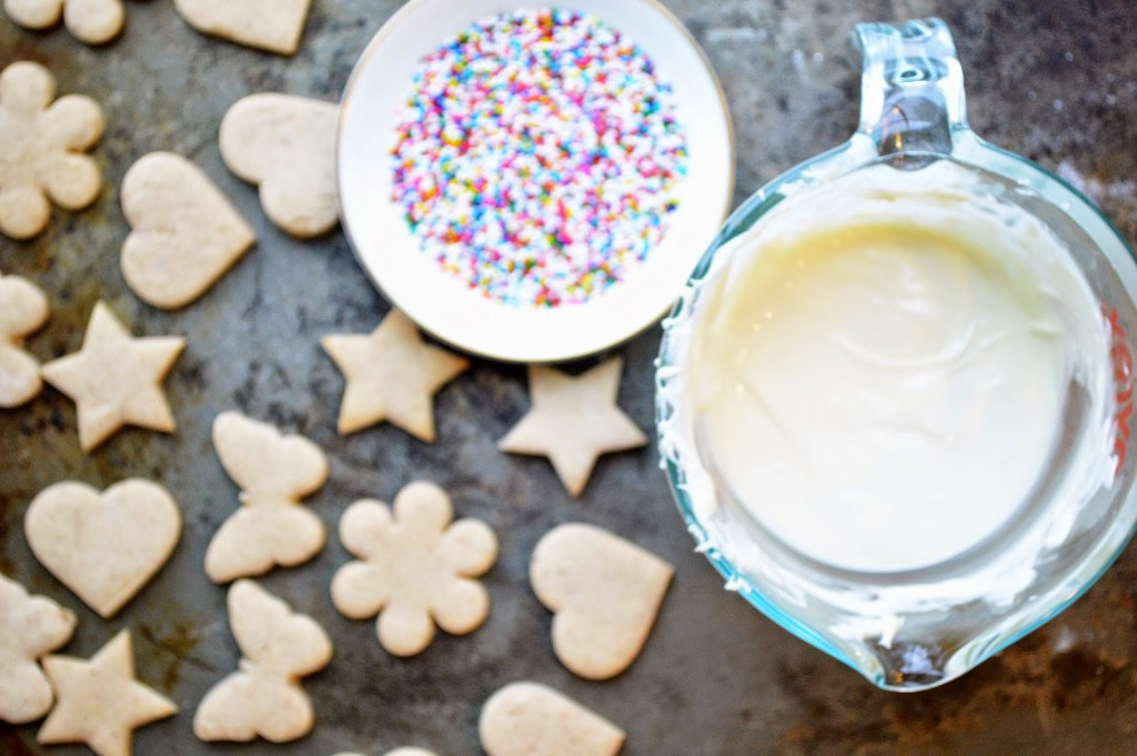 star and heart shaped sprinkle cookies