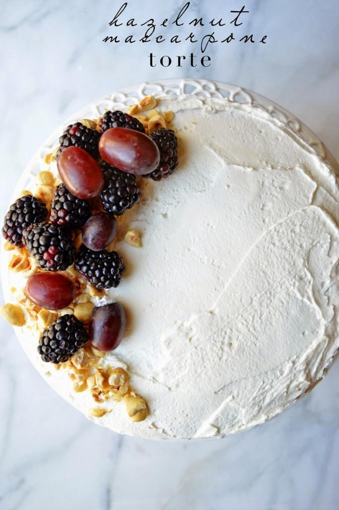 hazelnut mascarpone torte cake recipe