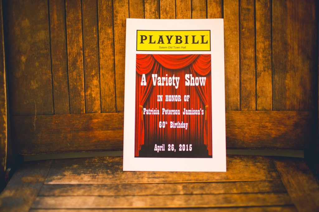 variety show program playbill