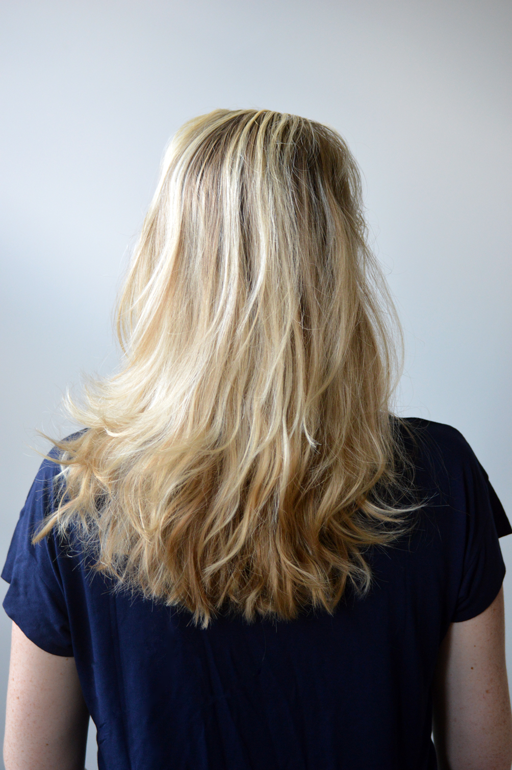 long blonde hair with highlights