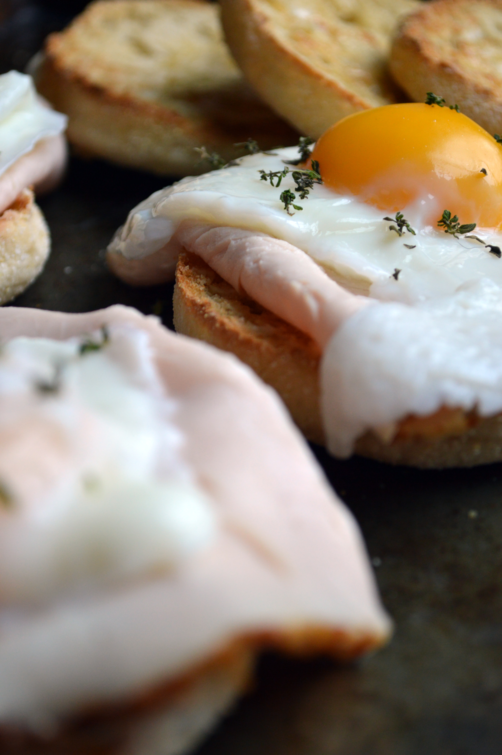 gourmet poached egg turkey breakfast sandwich