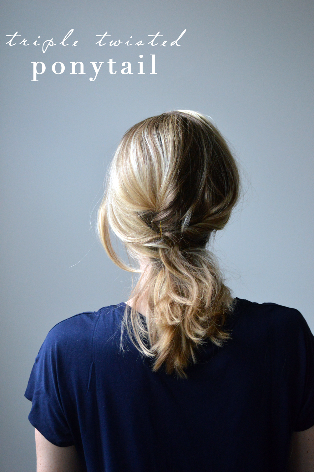 triple twisted ponytail hair tutorial