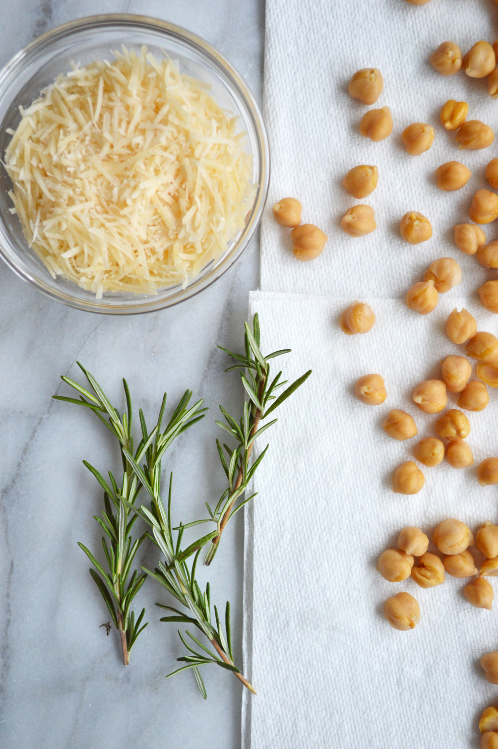 rosemary parmesan roasted chickpeas simple recipe