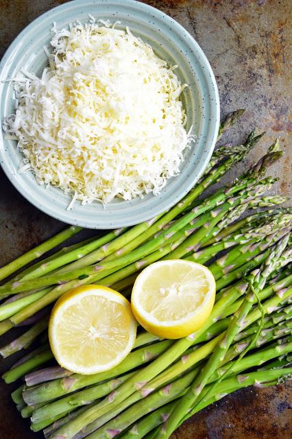 asparagus lemon gruyere