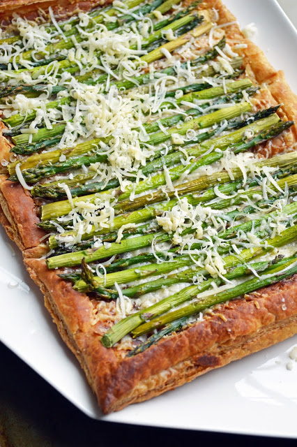 asparagus gruyere appetizer or entree puff pastry tart