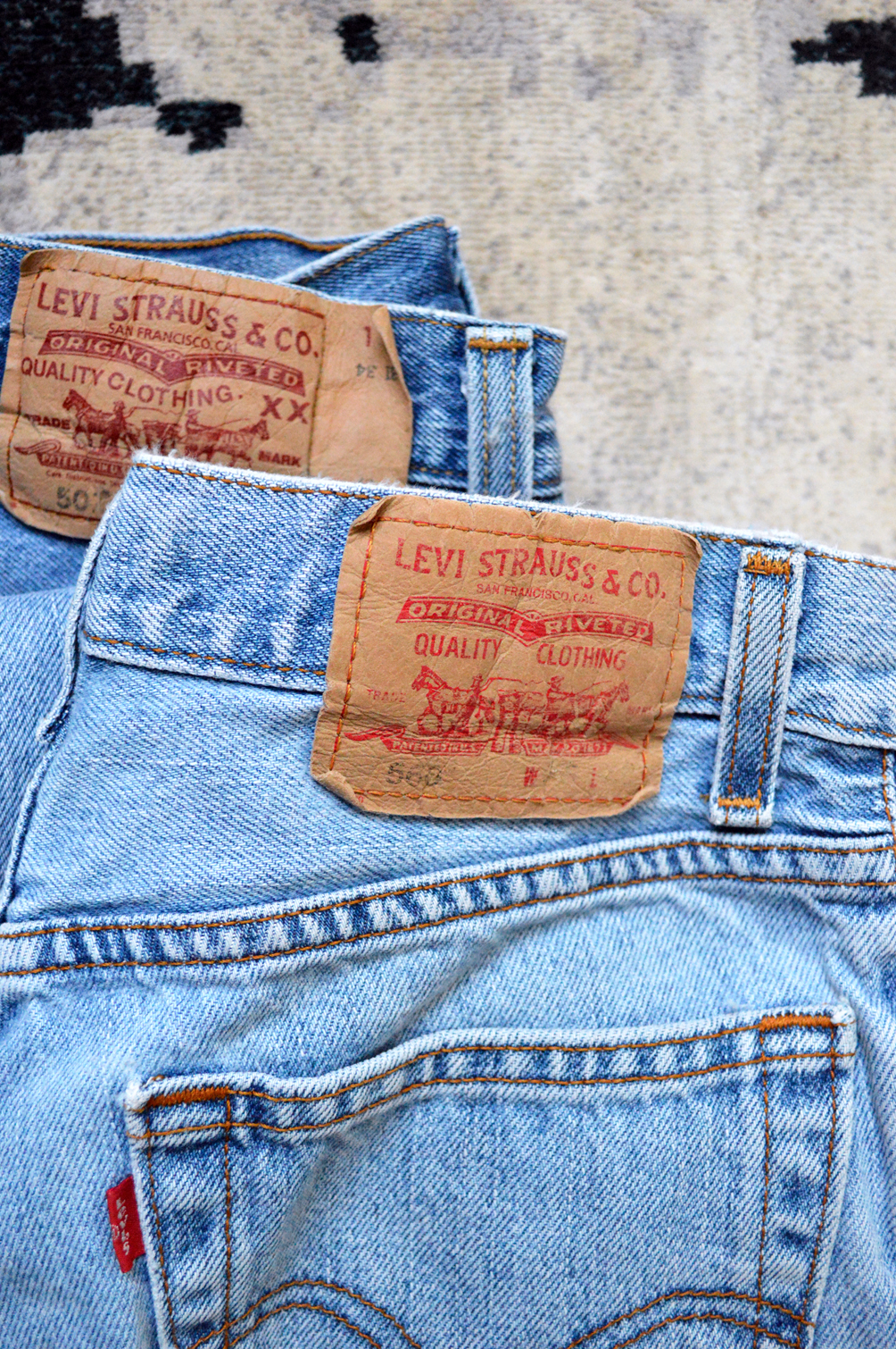 vintage levi jeans 501 and 506