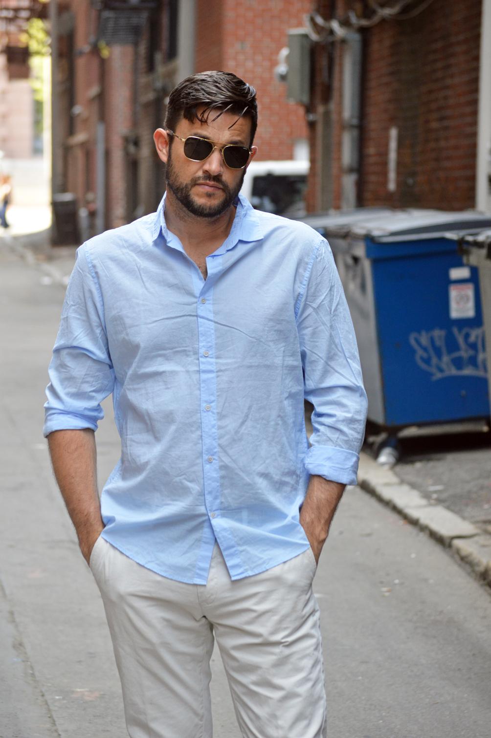men's linen dress shirt