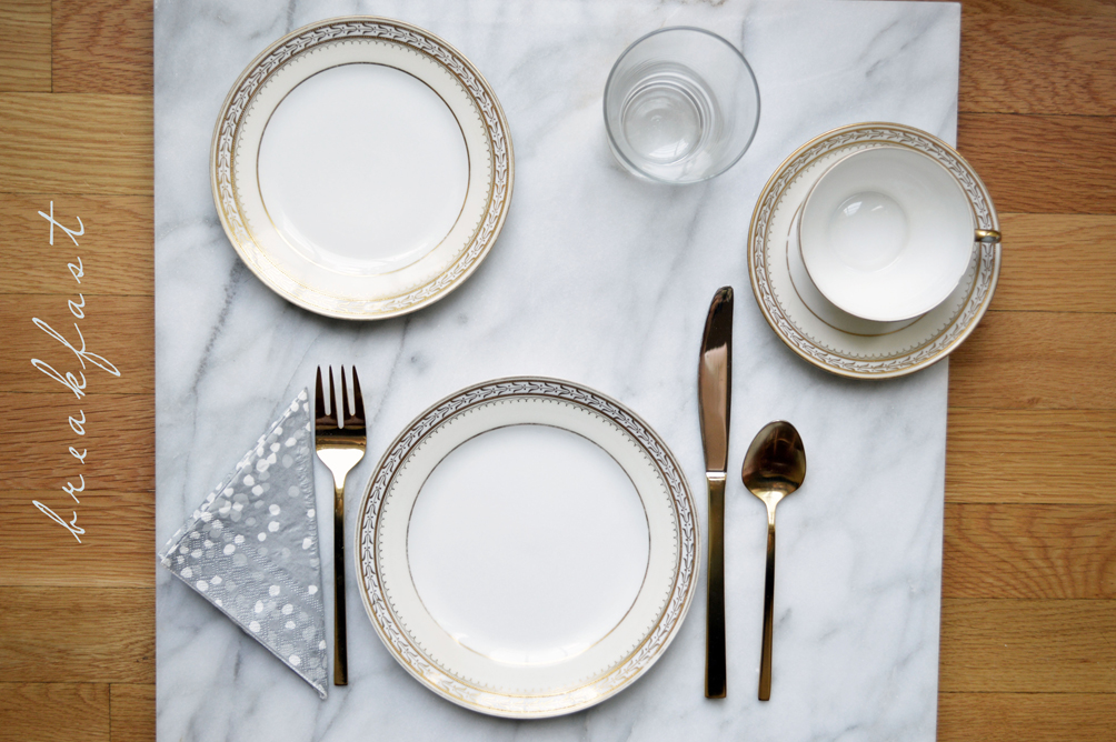 How to set the table for every meal one brass fox Simple table setting for lunch