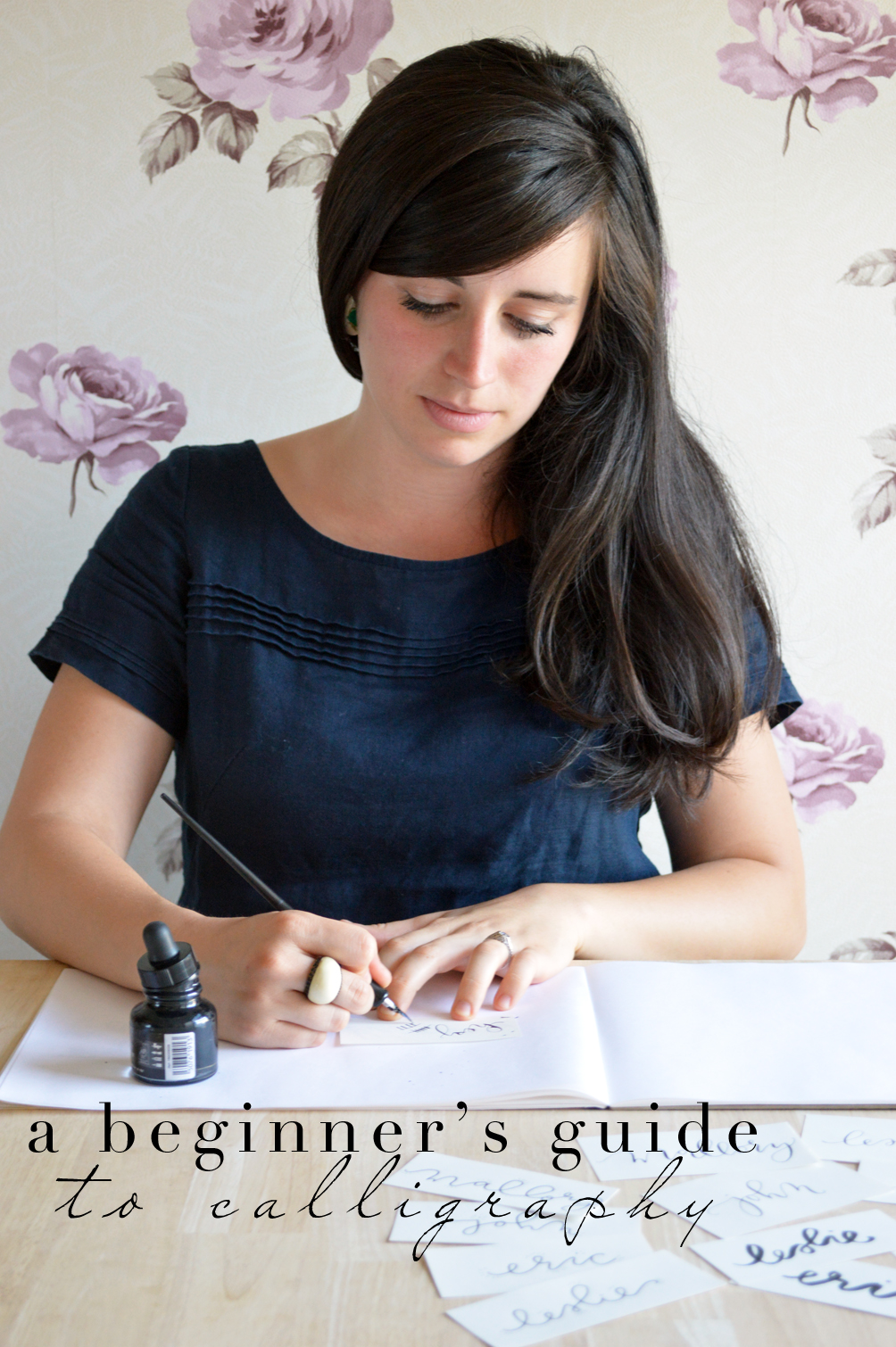 a beginners guide to calligraphy from Castle Paper Co.