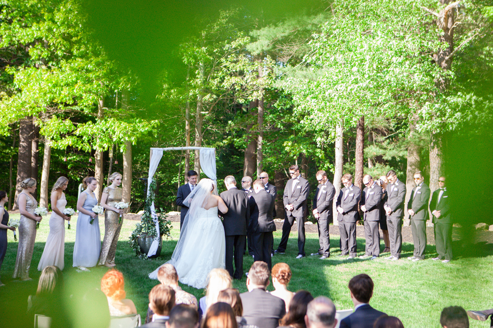 New England outdoor spring wedding