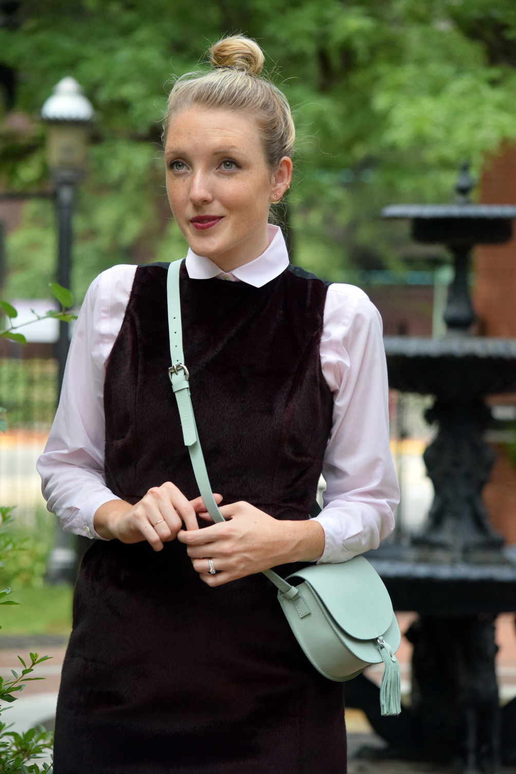 how to layer a dress for fall