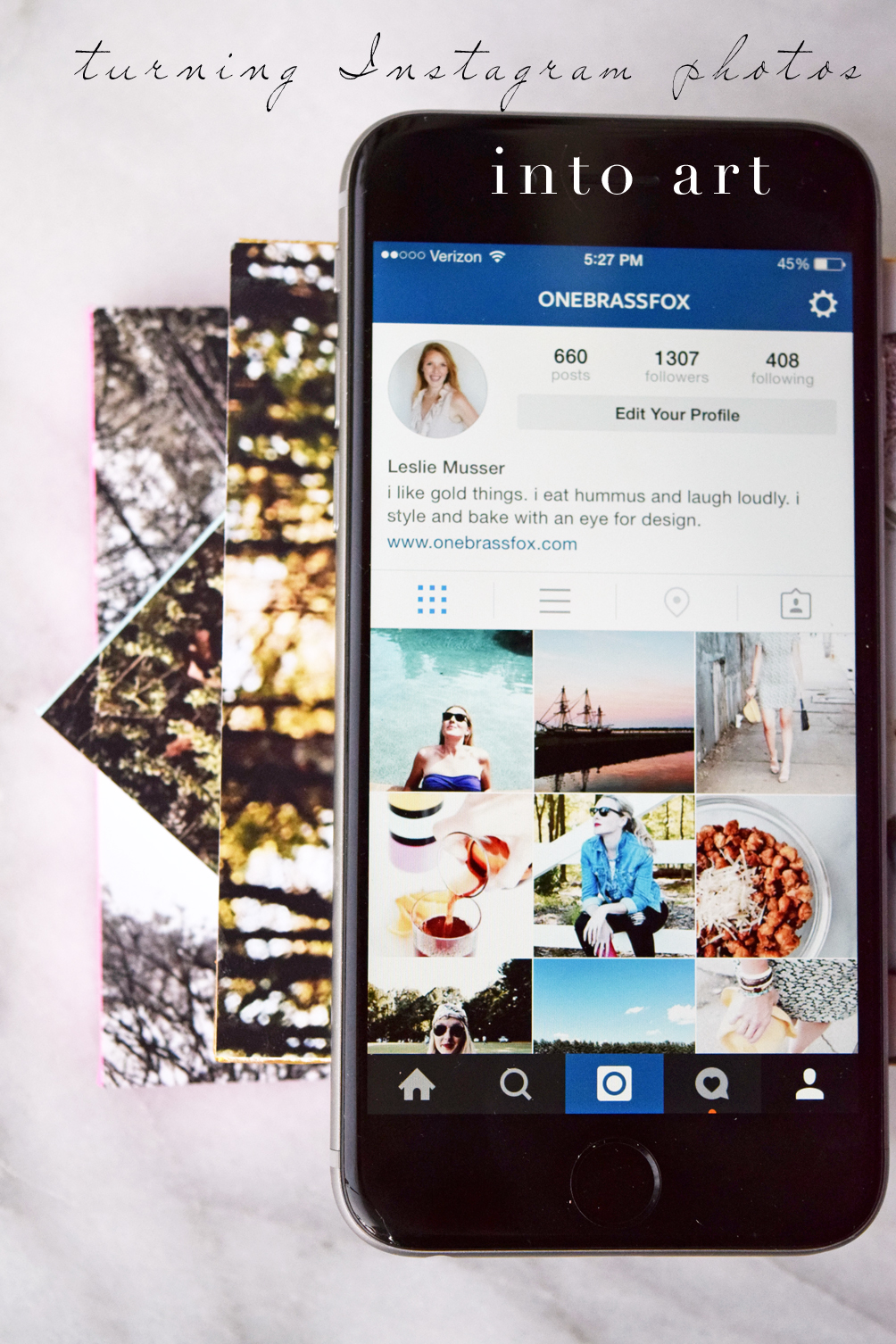 simple DIY on how to turn instagram photos into art