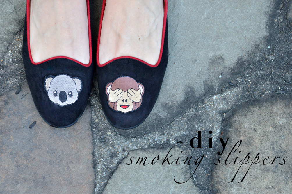 DIY smoking slippers tutorial