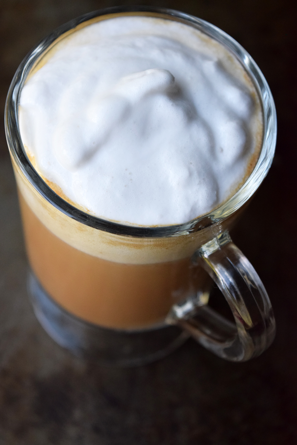 latte with whipped cream topping