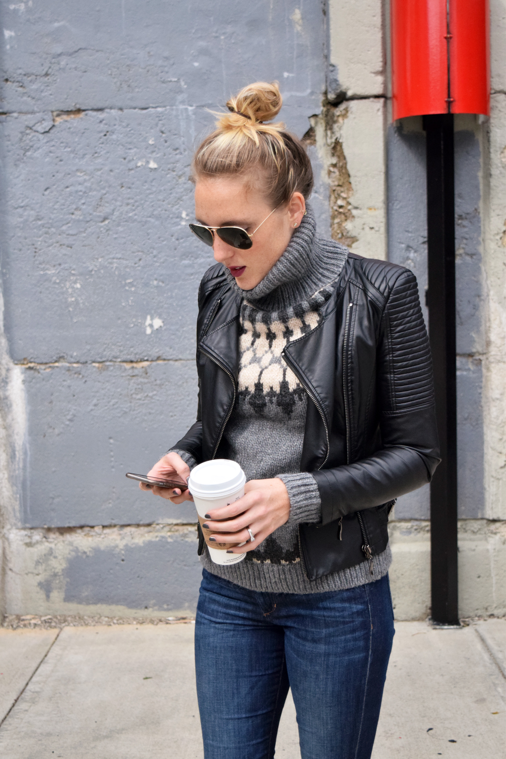 perfect leather jacket for fall
