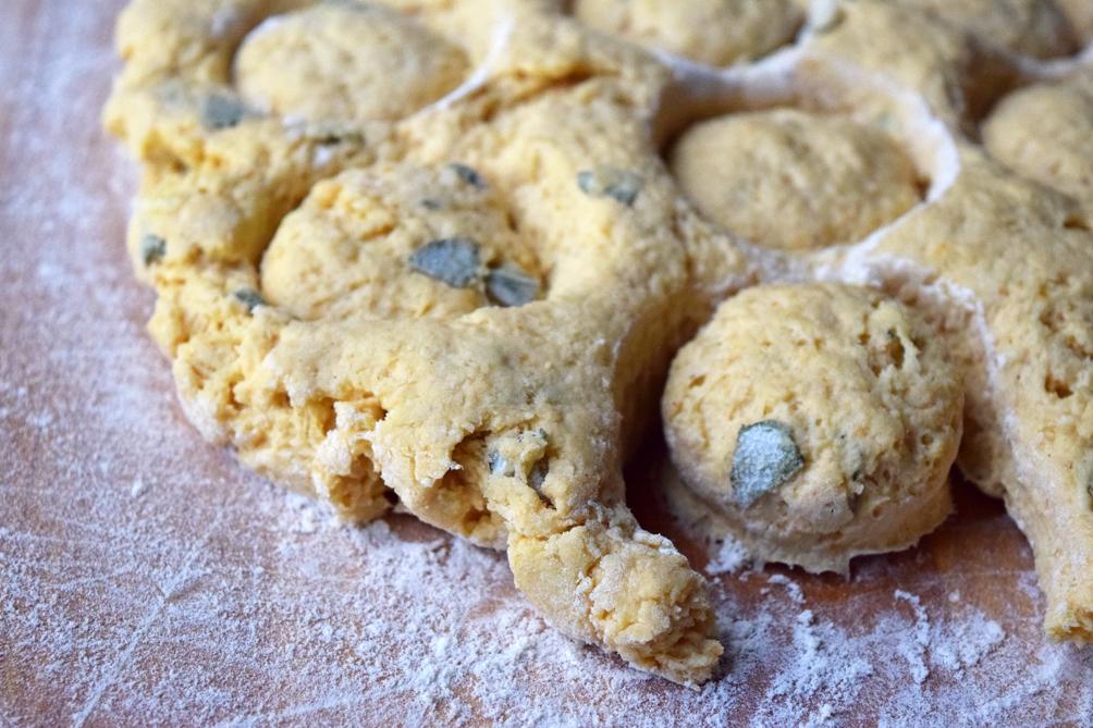 savory pumpkin sage biscuits