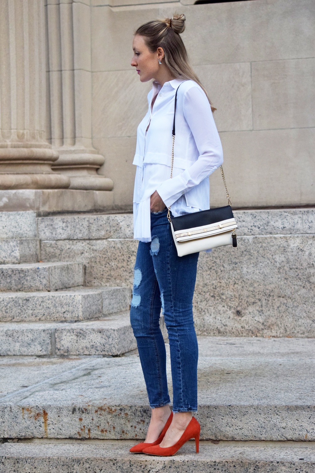 classic style with modern denim