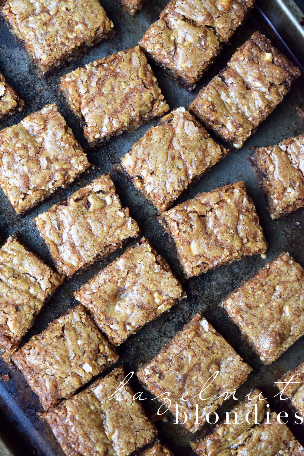 hazelnut blondies recipe