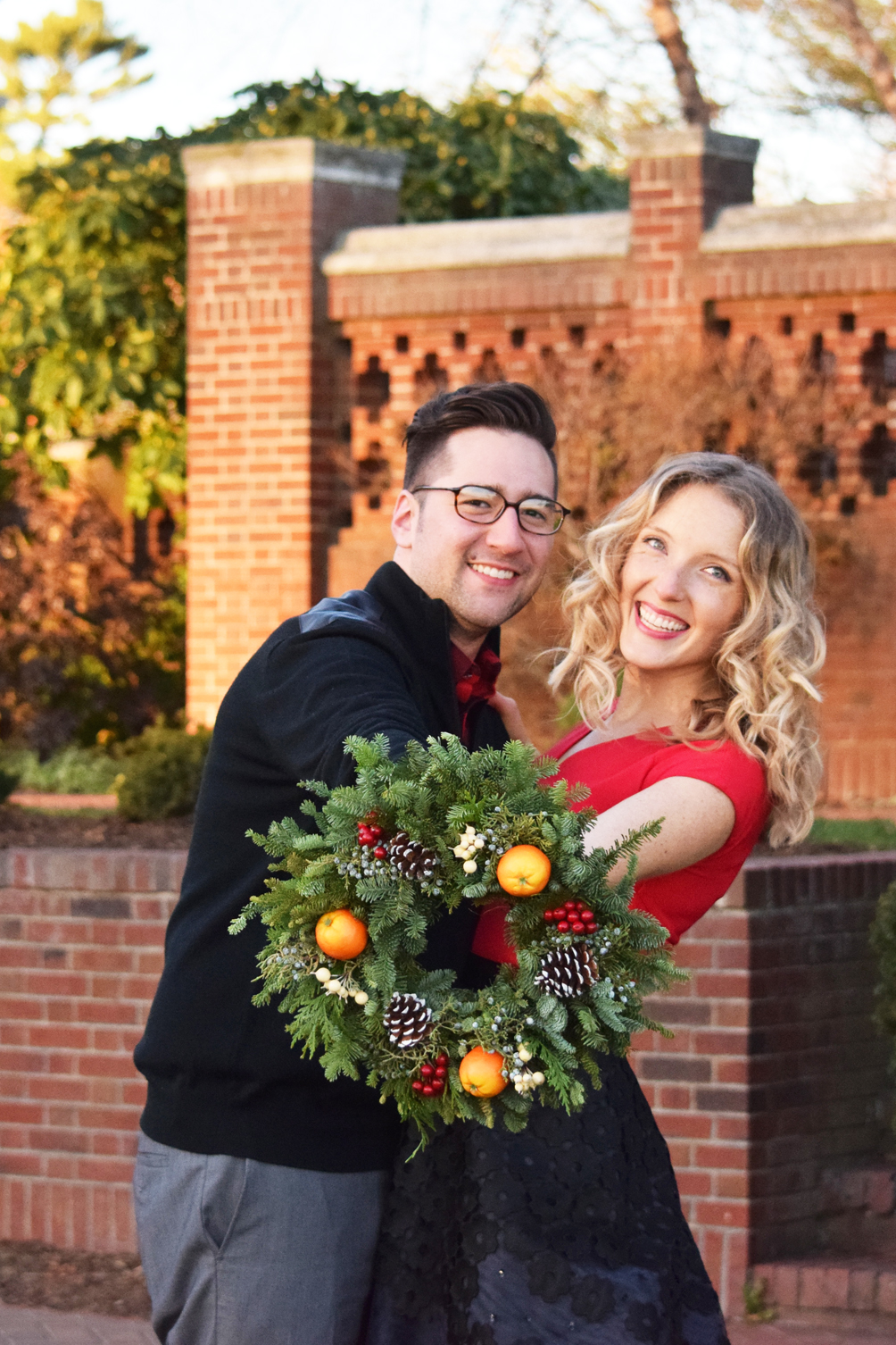 one brass fox holiday photos in the rose garden 2015