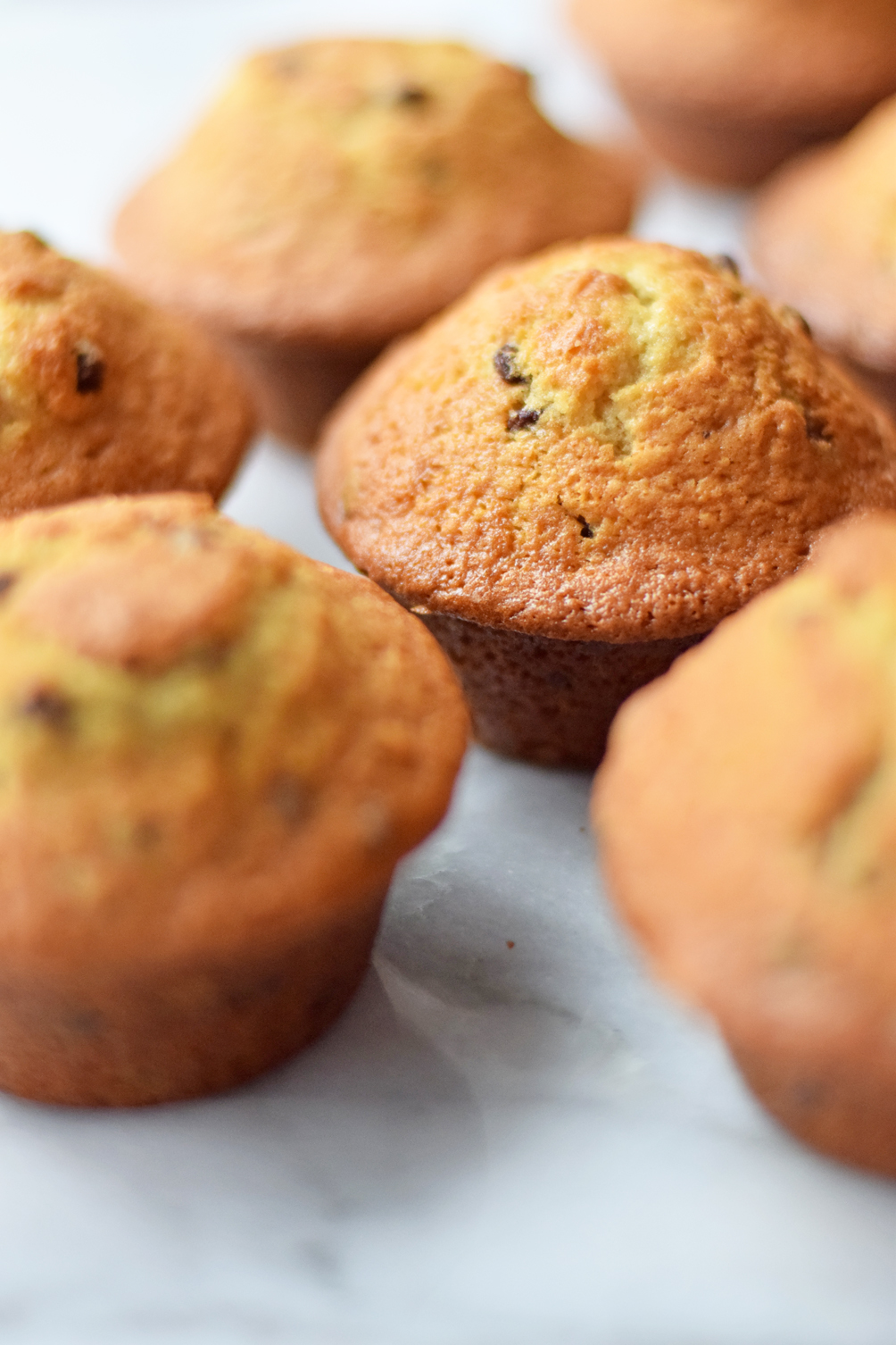 the perfect chocolate chip muffins