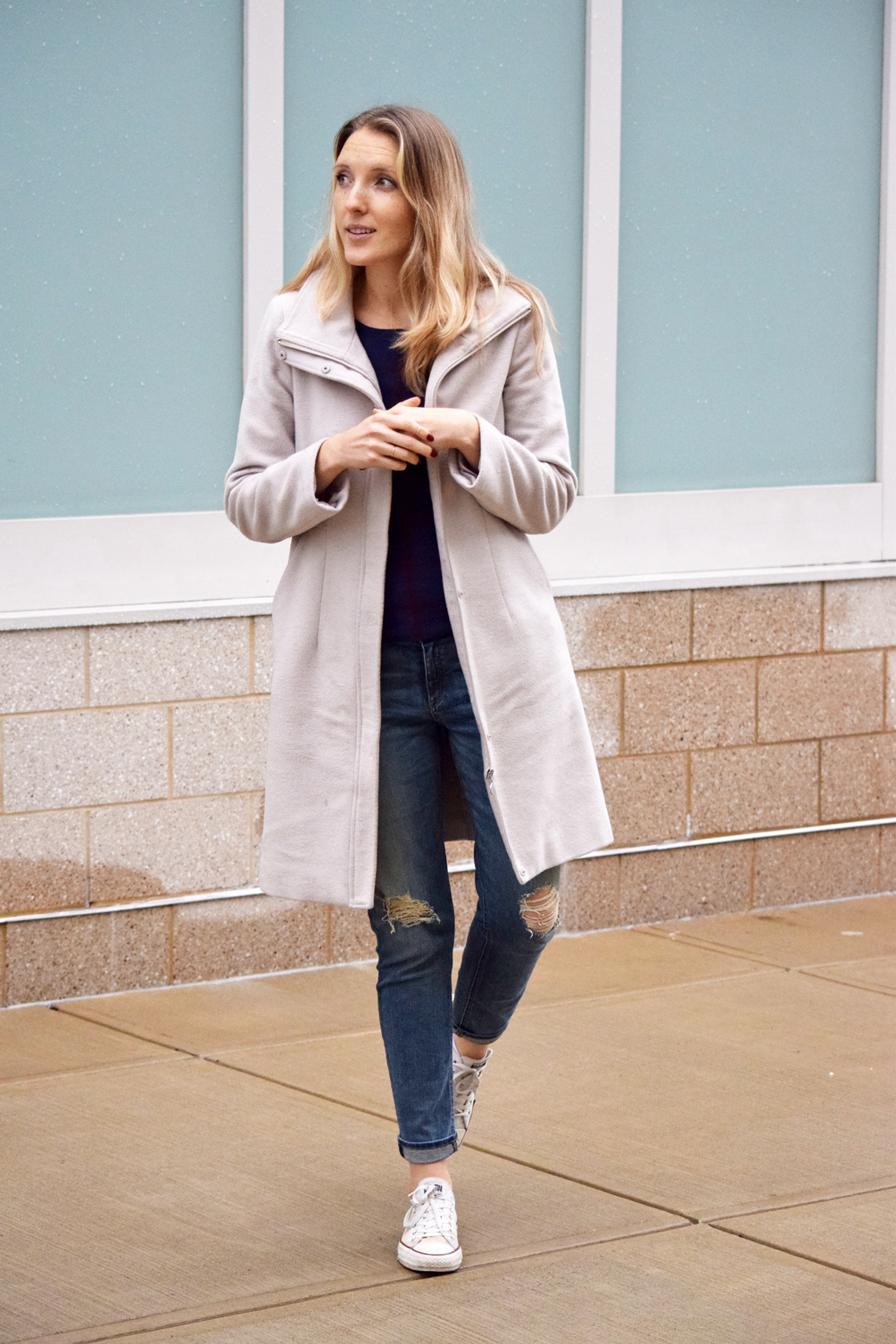 casual fall layered look