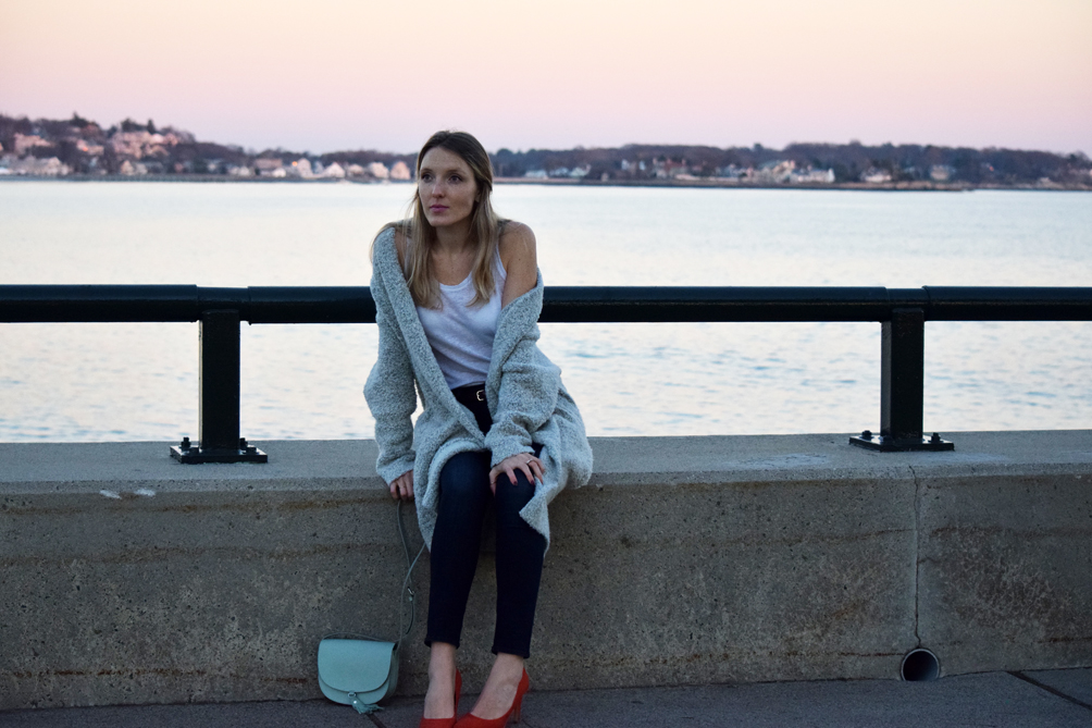 casual fall and winter look - one brass fox