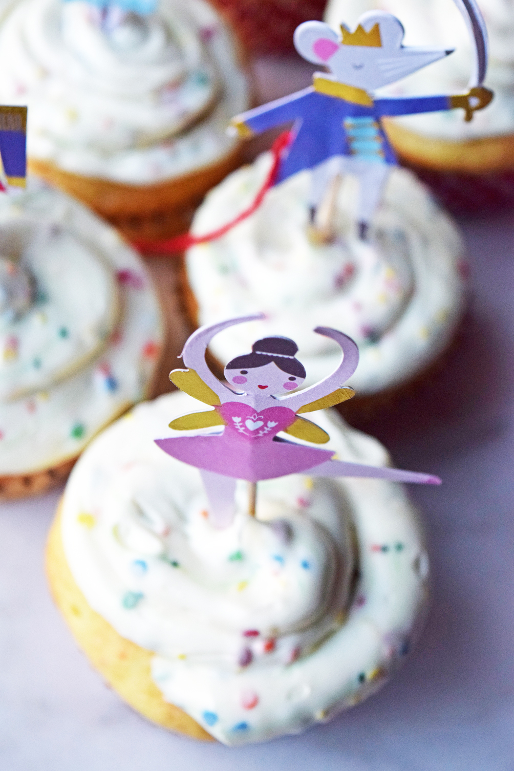 sugar plum fairy cupcake decoration