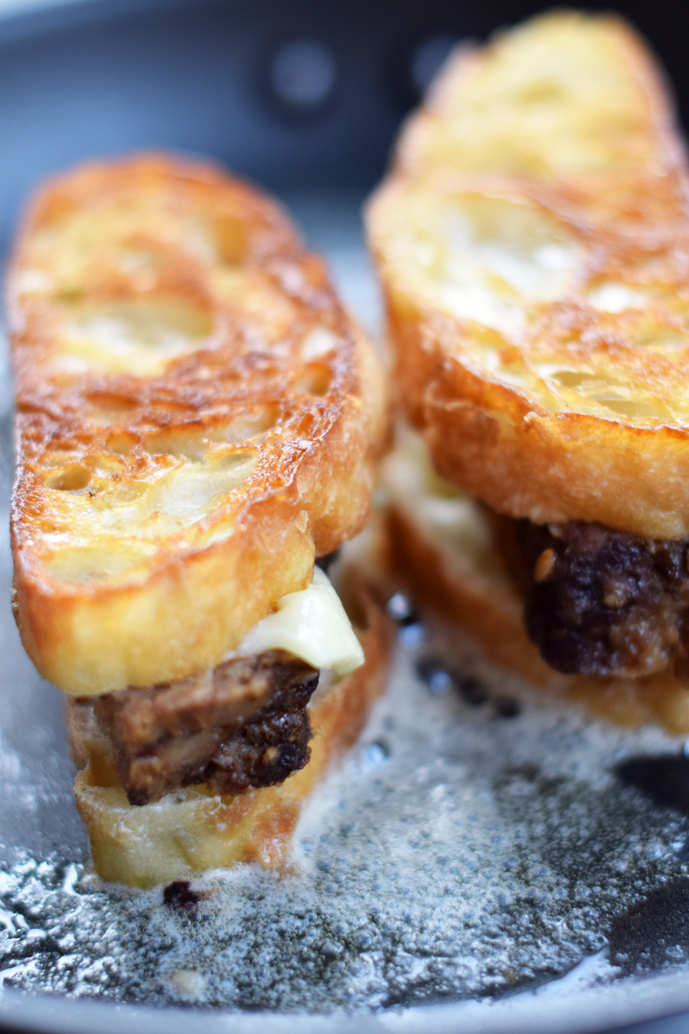 homemade meatloaf grilled cheese sandwich - one brass fox