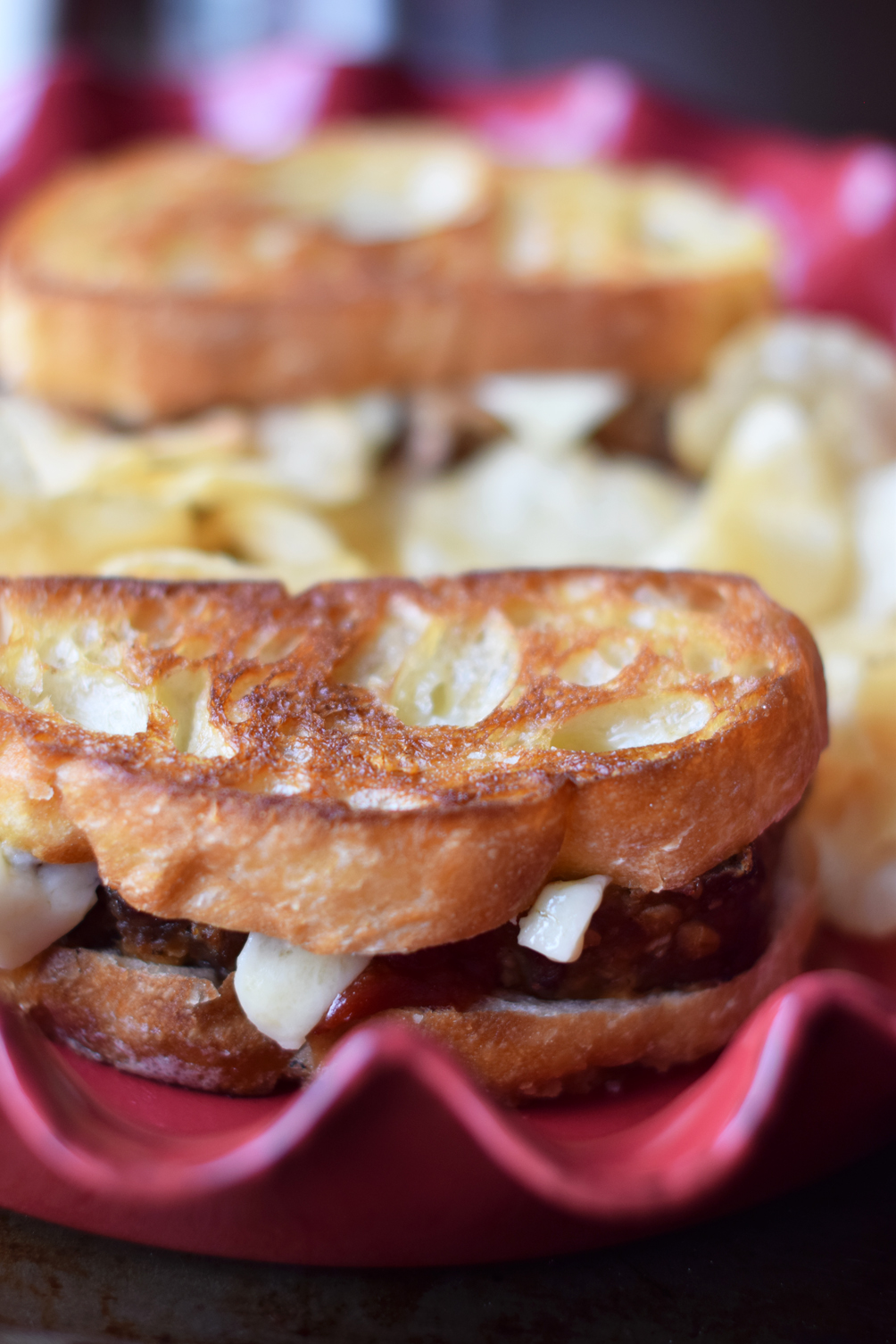 barbecue meatloaf grilled cheese - one brass fox