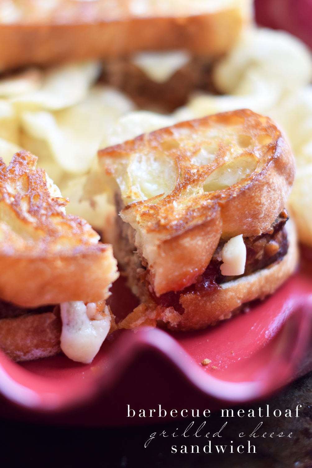 barbecue meatloaf grilled cheese sandwich recipe - one brass fox
