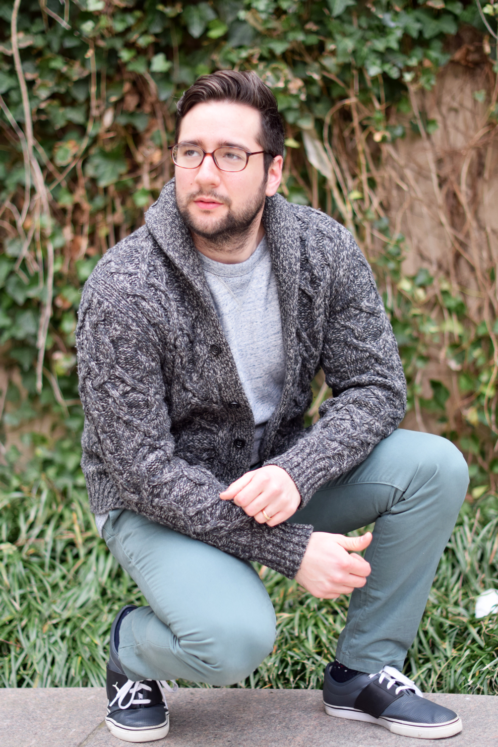 men's winter fashion outfit - one brass fox