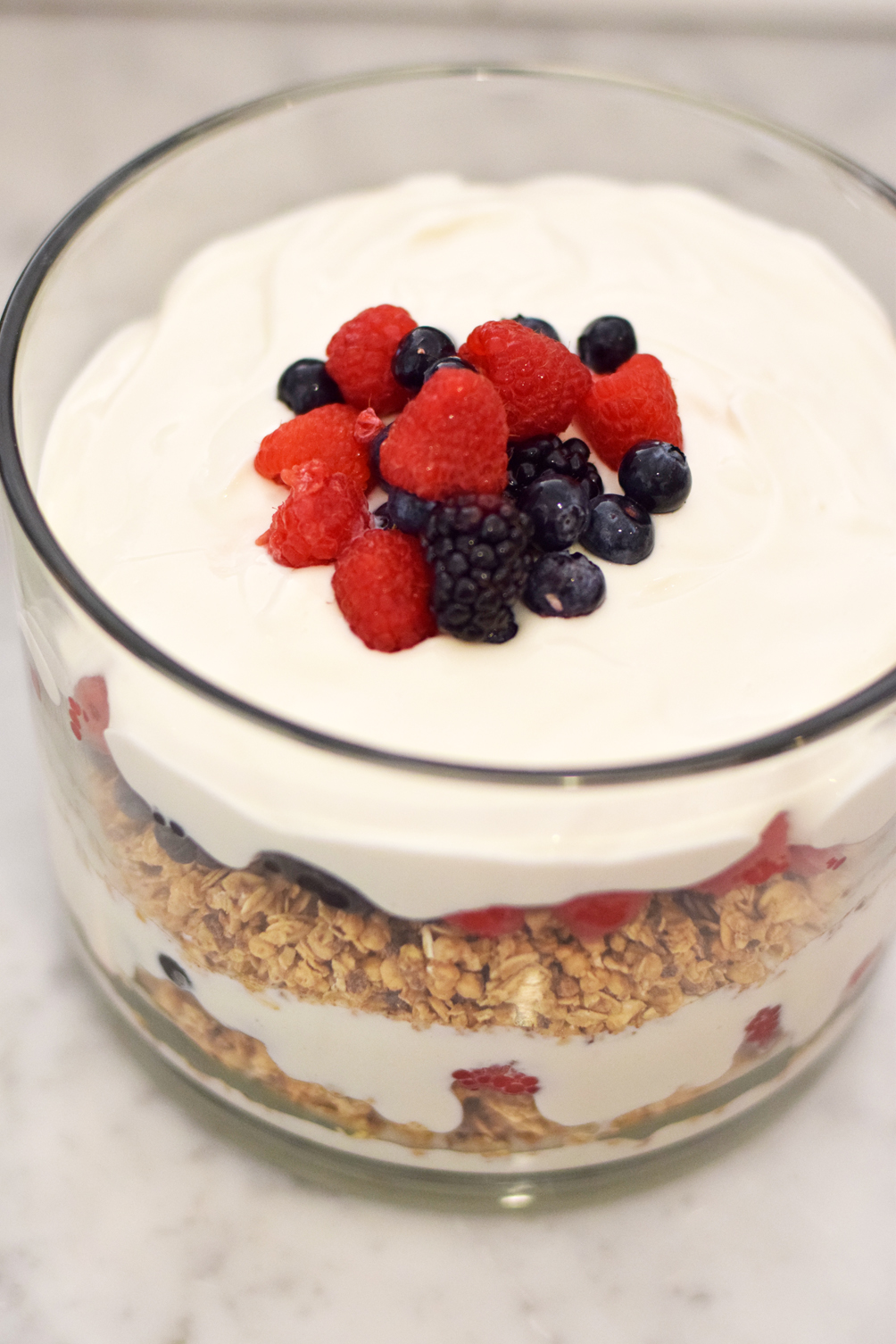 granola yogurt trifle - one brass fox