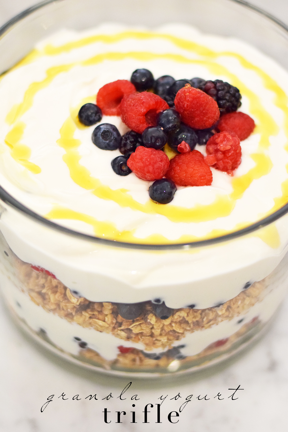 easy granola yogurt trifle recipe