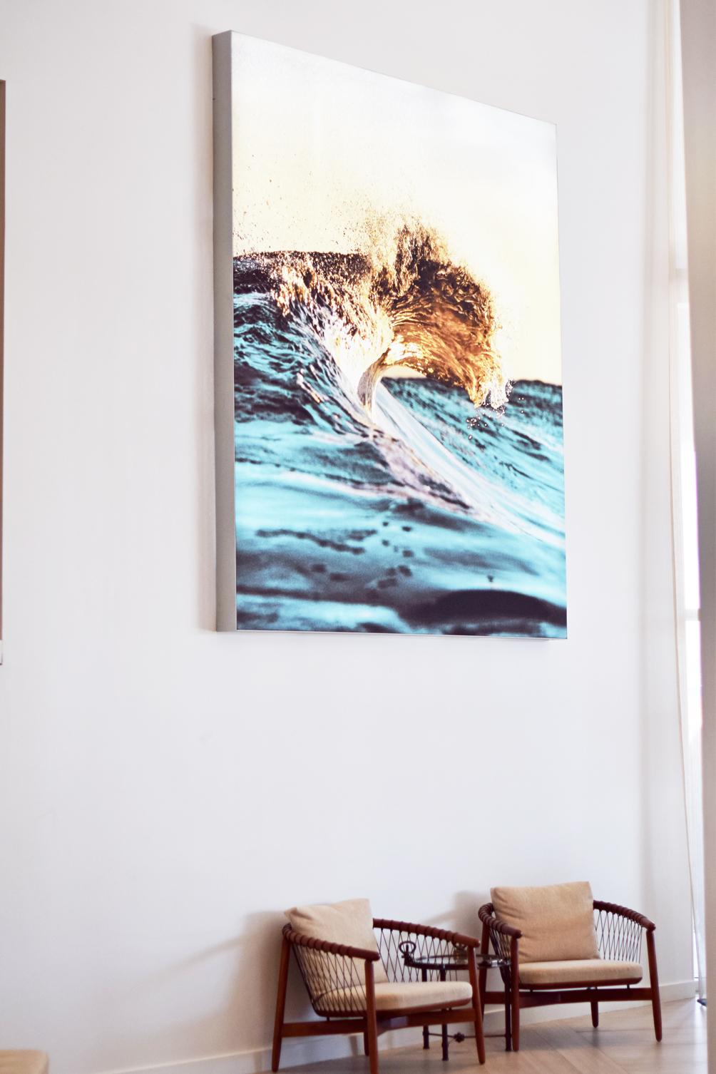 ocean wave art work in the Newport Marriott Rhode Island