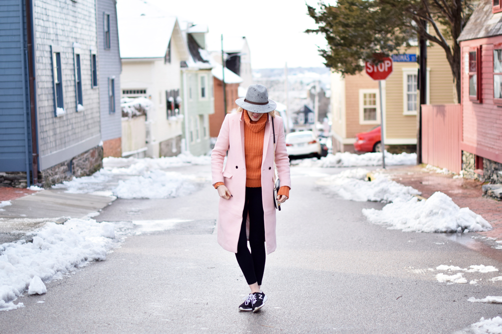 pastel winter colors outfit