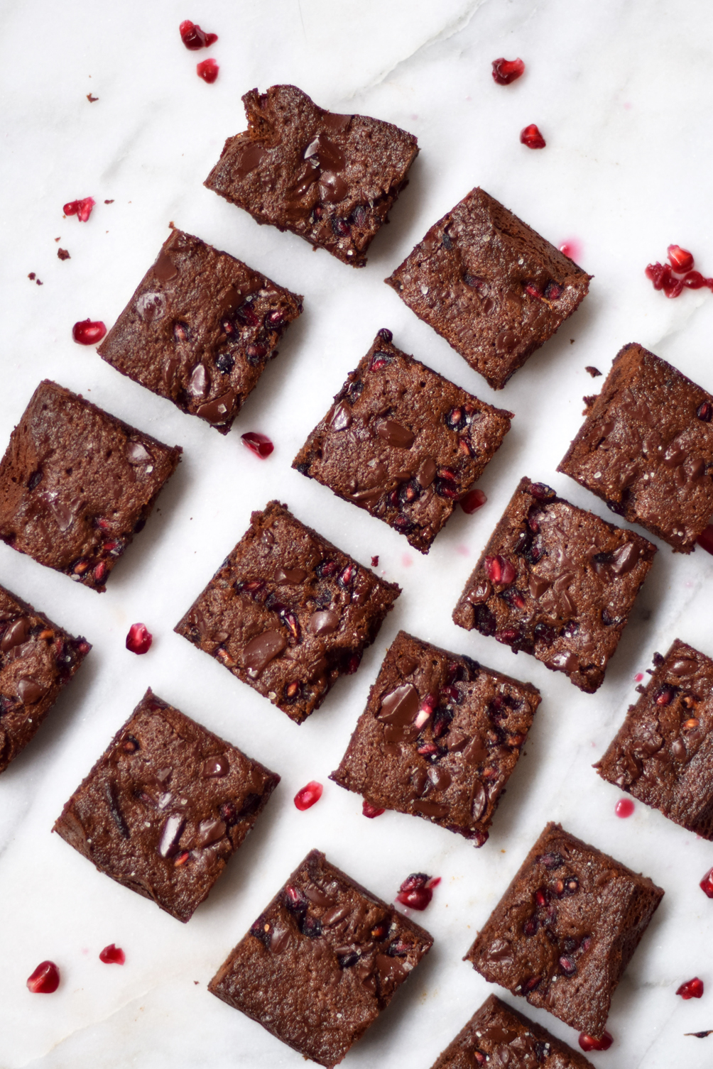 pomegranate brownies - one brass fox
